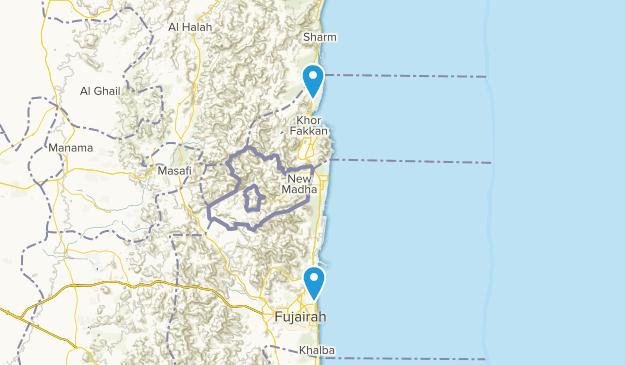 Saqamqam, Fujayrah Map