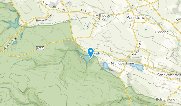 Langsett Civil Parish, Barnsley Map
