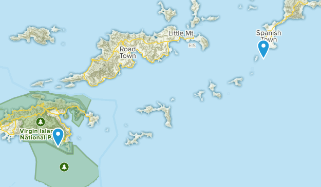 Spanish Town, British Virgin Islands Map