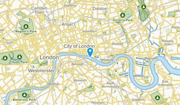 London, City and County of the City of London Map