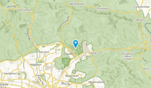 Stanmer, East Sussex Map