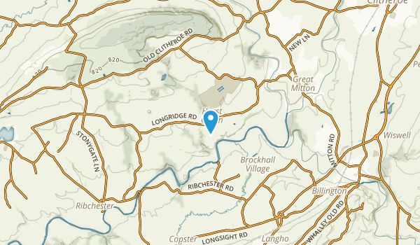 Aighton, Bailey And Chaigley Civil Parish, England Map
