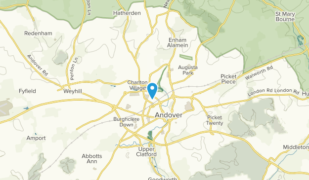 Andover, England Map