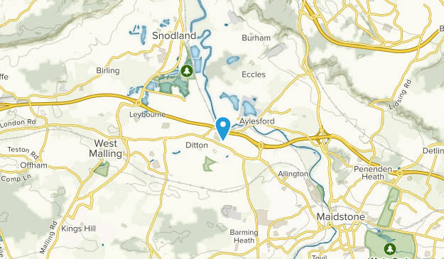 Aylesford, England Map