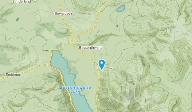 Bassenthwaite, England Map