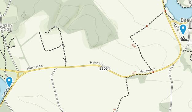 Beaulieu, England Map