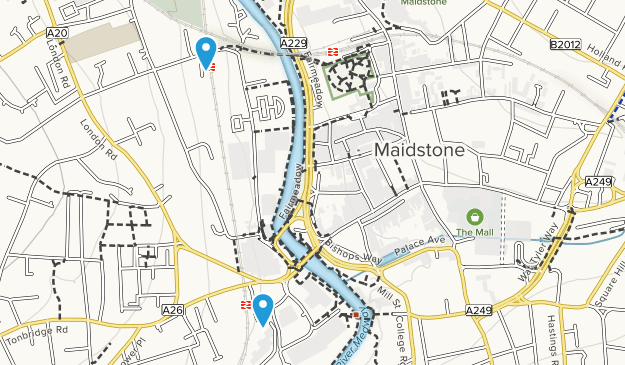 Borough of Maidstone, England Map