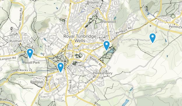 Borough of Tunbridge Wells, England Map