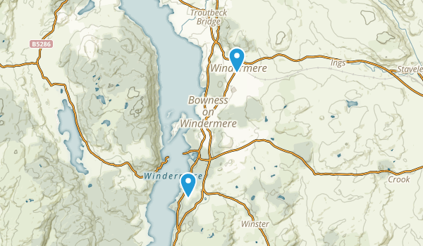 Bowness-on-Windermere, England Map