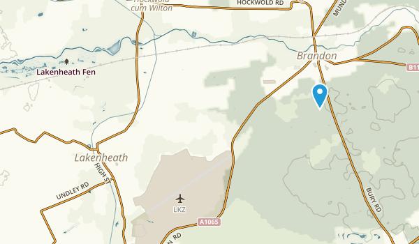 Brandon, England Map