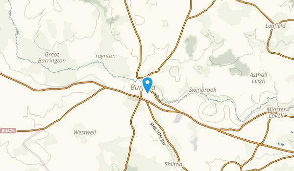 Burford, England Map