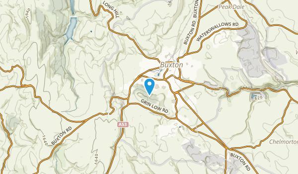 Buxton, England Map