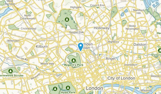 Camden Town, England Map
