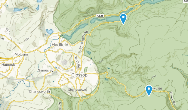 Charlesworth Civil Parish, England Map