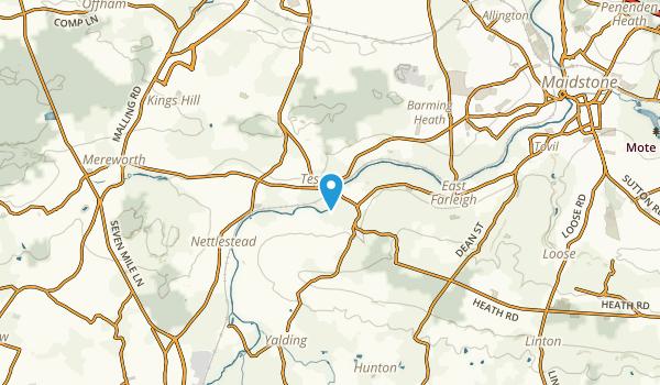 East Barming, England Map
