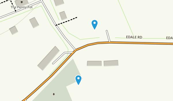 Edale Civil Parish, England Map