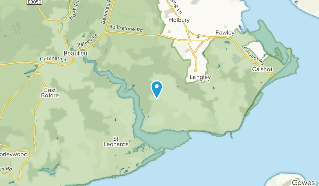 Exbury, England Map