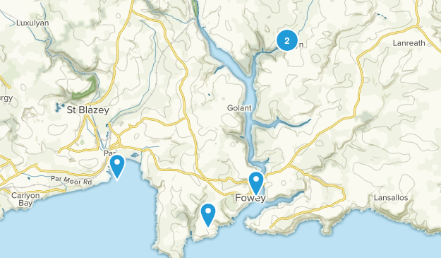 Fowey, England Map