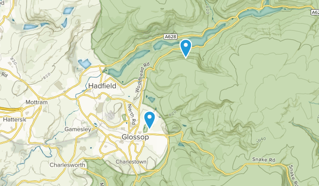 Glossop, England Map