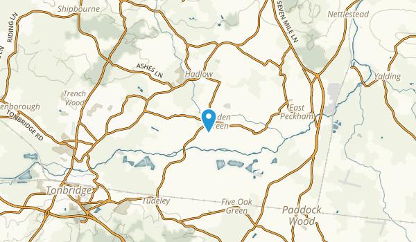 Hadlow, England Map
