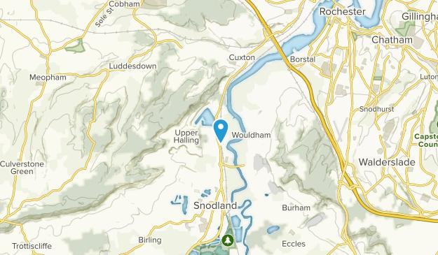 Halling, England Map