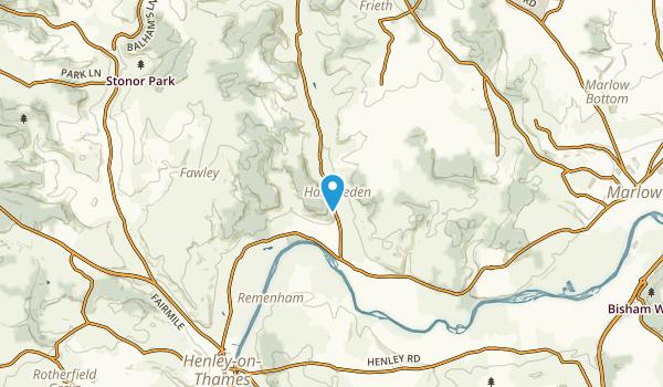 Hambleden Civil Parish, England Map