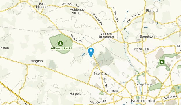 Harlestone, England Map