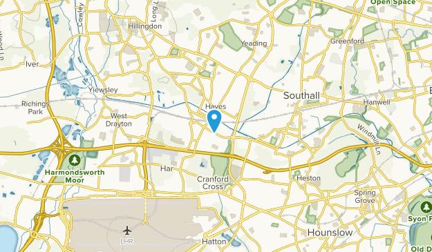 Hayes & Harlington, England Map