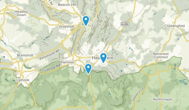 Hindhead, England Map