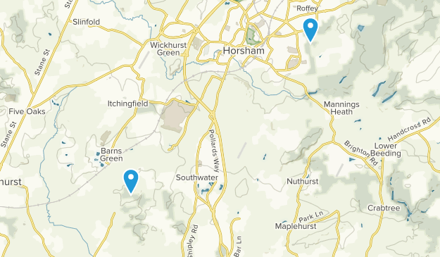 Horsham, England Map