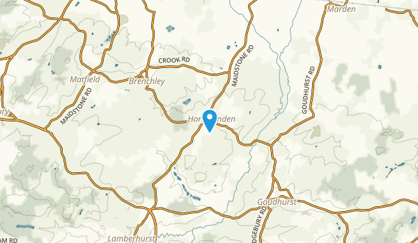 Horsmonden, England Map
