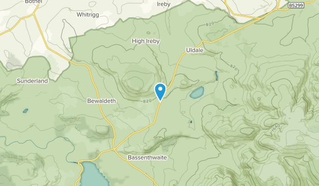 Ireby And Uldale Civil Parish, England Map