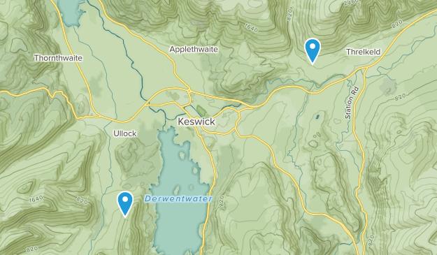 Keswick, England Map