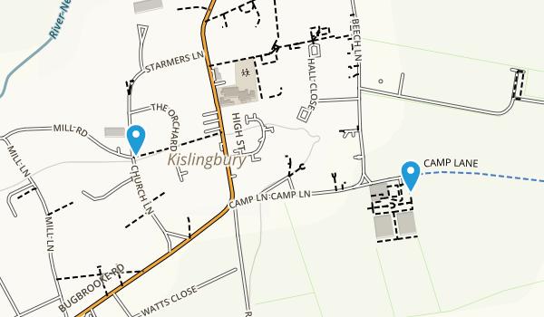 Kislingbury, England Map