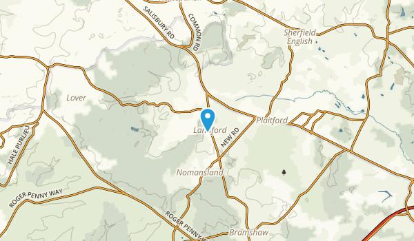Landford, England Map