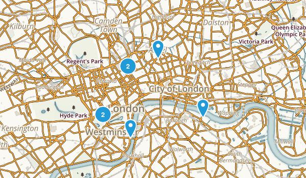 London, England Map