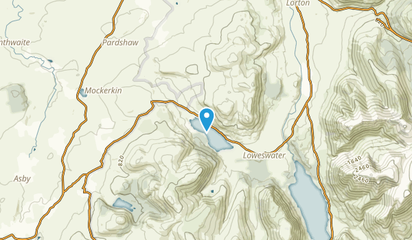 Loweswater, England Map