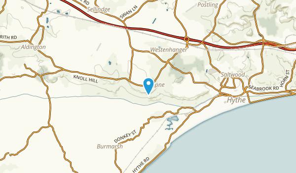 Lympne, England Map