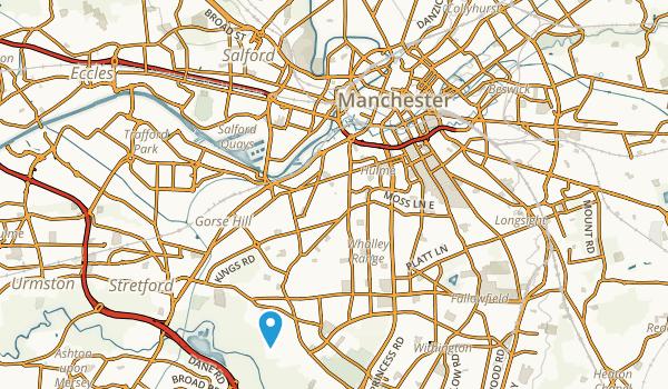 Manchester, England Map