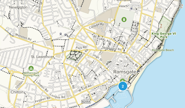 Margate and Ramsgate, England Map