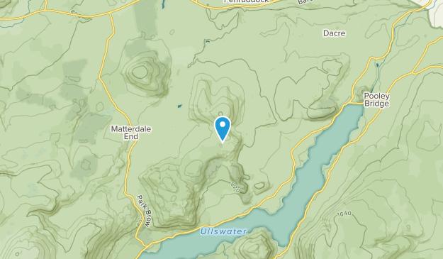 Matterdale Civil Parish, England Map