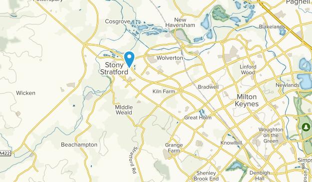 Milton Keynes, England Map
