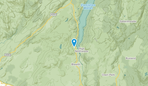 Nibthwaite, England Map