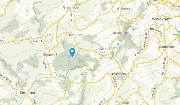 Rowlands Gill, England Map
