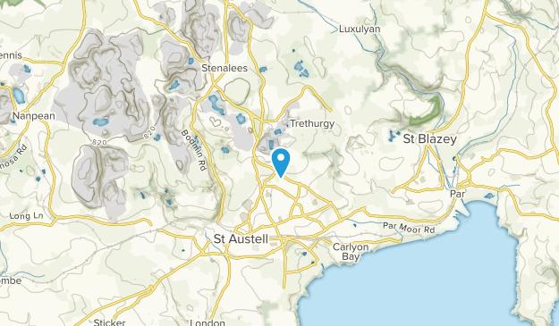 St Austell, England Map