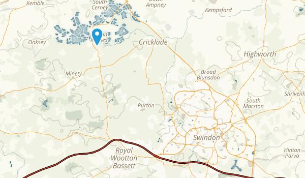 Swindon, England Map