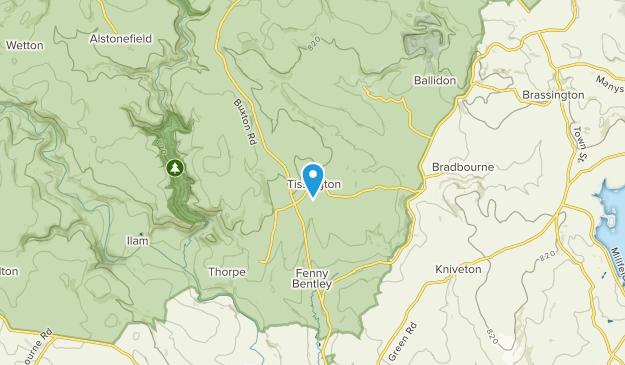 Tissington, England Map