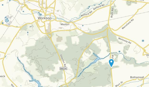 Worksop, England Map