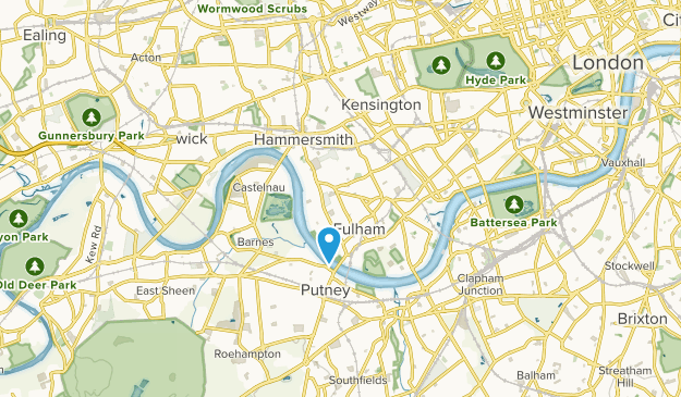 Barons Court, Hammersmith and Fulham Map