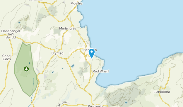 Benllech, Isle of Anglesey Map